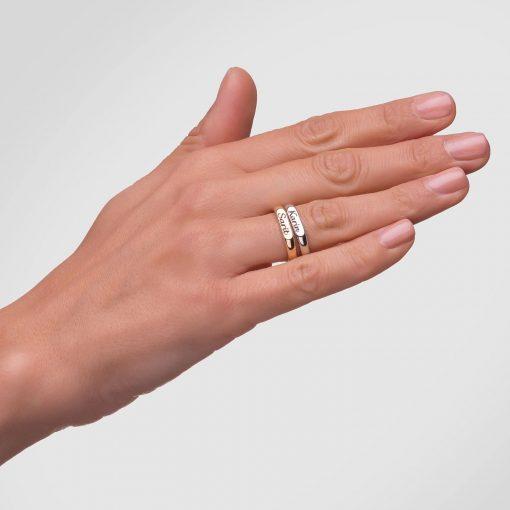 טבעת פס מכסף 925