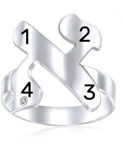 טבעת אות ושמות הילדים