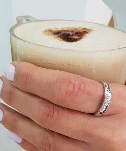 טבעת לב מיקרו מכסף 925