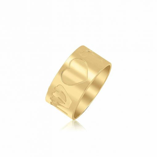 טבעת אהובים בשילוב חריטה