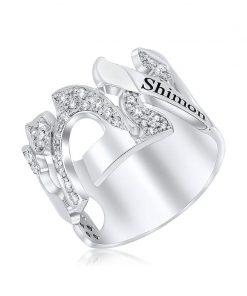 טבעת אמא משובצת